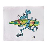CAT DOG RAT by Tamara Warren Throw Blanket