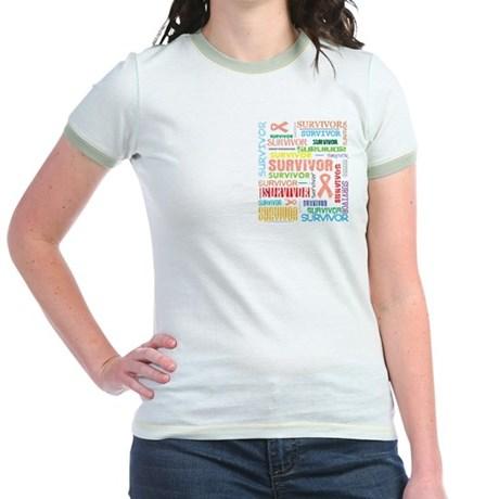 Uterine Cancer Survivor Jr. Ringer T-Shirt