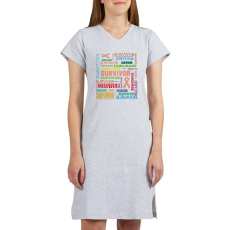 Uterine Cancer Survivor Women's Nightshirt