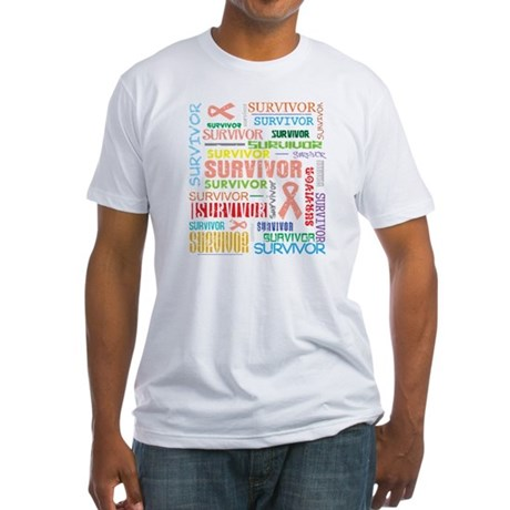 Uterine Cancer Survivor Fitted T-Shirt