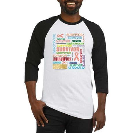 Uterine Cancer Survivor Baseball Jersey