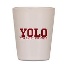YOLO Shot Glass
