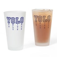 YOLO Drinking Glass