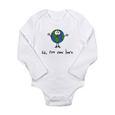 Funny Child birth Long Sleeve Infant Bodysuit
