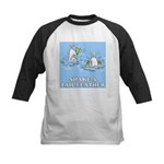 Shake A Tail Feather Kids Baseball Jersey