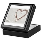 Beach Wedding Heart of Sand Keepsake Box