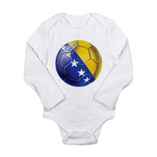 Bosnia Football Long Sleeve Infant Bodysuit