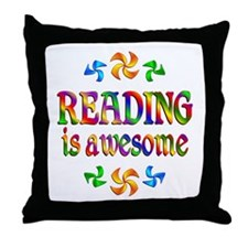 Reading is Awesome Throw Pillow