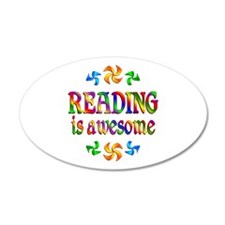 Reading is Awesome 22x14 Oval Wall Peel