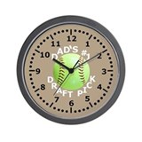 Kids Softball Wall Clock