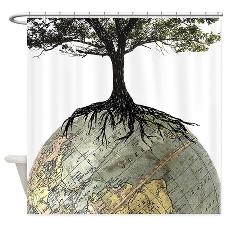 Tree Globe Shower Curtain by iloveyou1