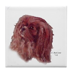 Ruby Cavalier King Charles Tile Coaster