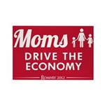 Moms Drive Economy Rectangle Magnet