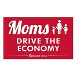 Moms Drive Economy Sticker (Rectangle)