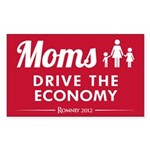 Moms Drive Economy Sticker (Rectangle 50 pk)