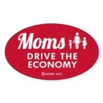 Moms Drive Economy Sticker (Oval 10 pk)