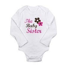 Cute Sister Long Sleeve Infant Bodysuit