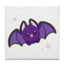 Kawaii Bat Tile Coaster