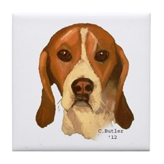 Beagle II Tile Coaster