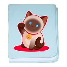 Lucky Cat baby blanket