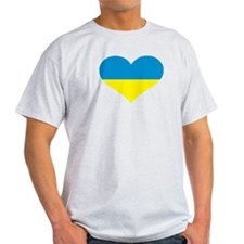 Ukraine heart flag T-Shirt