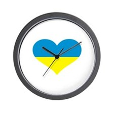 Ukraine heart flag Wall Clock