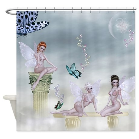 Fantasy 3 Muses Shower Curtain