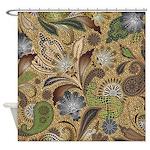 Paisley Animal Print Shower Curtain