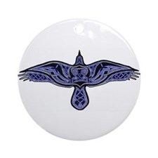 Celtic Raven Ornament (Round)