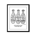 Bottle Water Failures Framed Panel Print