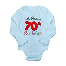 Papou's 70th Birthday Baby Suit