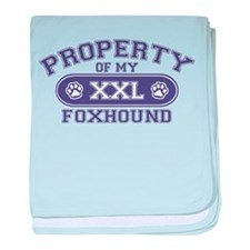 Foxhound PROPERTY baby blanket