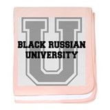 Black Russian UNIVERSITY baby blanket