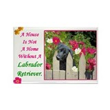 Cute Black labrador retriever Rectangle Magnet