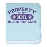 Black Russian PROPERTY baby blanket