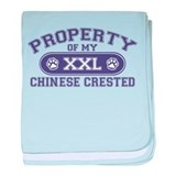 Chinese Crested PROPERTY baby blanket