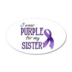 Wear Purple - Sister 38.5 x 24.5 Oval Wall Peel
