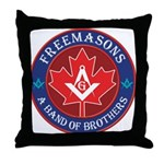 Canadian Band of Brothers Throw Pillow