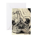 Pug Love Cake Happy Birthday Card