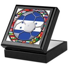 Honduras Flag World Cup Footb Keepsake Box