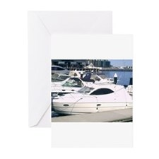 Boating at Docklands Marina M Greeting Cards (Pk o