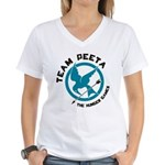 Team Peeta Women's V-Neck T-Shirt