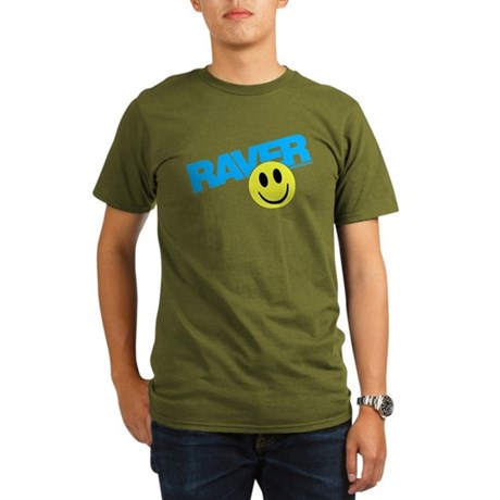 Raver Smilie Organic Men's T-Shirt (dark)