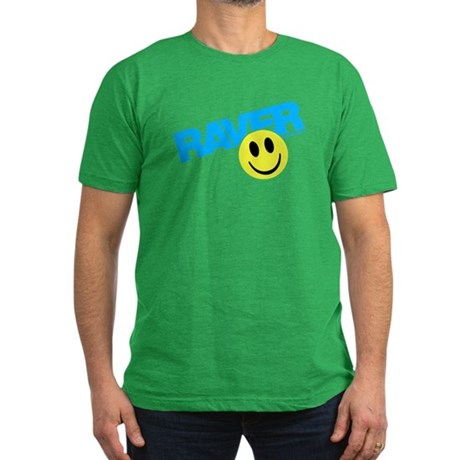 Raver Smilie Men's Fitted T-Shirt (dark)
