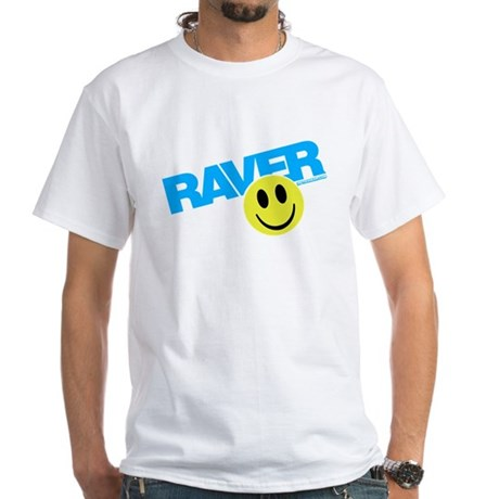 Raver Smilie White T-Shirt