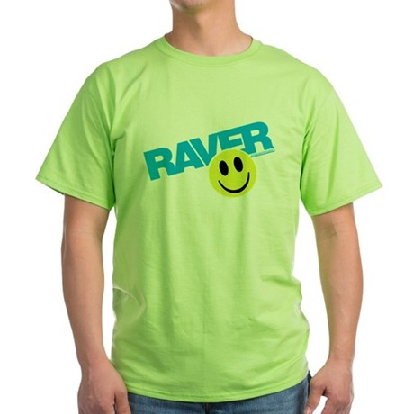 Raver Smilie Green T-Shirt