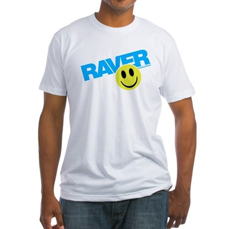 Raver Smilie Fitted T-Shirt