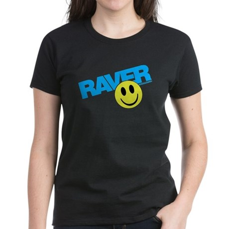 Raver Smilie Women's Dark T-Shirt
