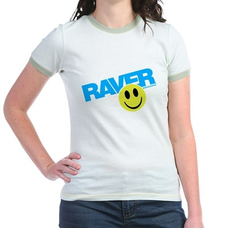 Raver Smilie Jr. Ringer T-Shirt