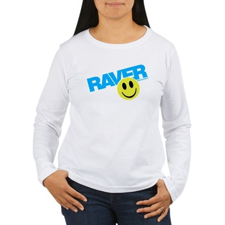 Raver Smilie Women's Long Sleeve T-Shirt